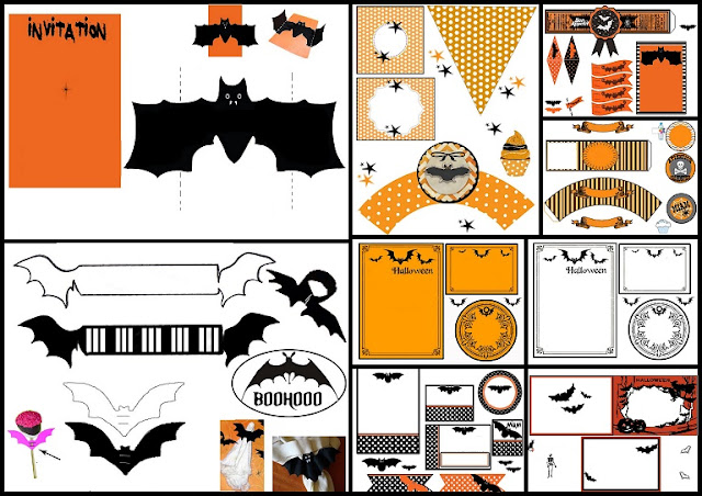 Bats: Free Printable Halloween Kit.