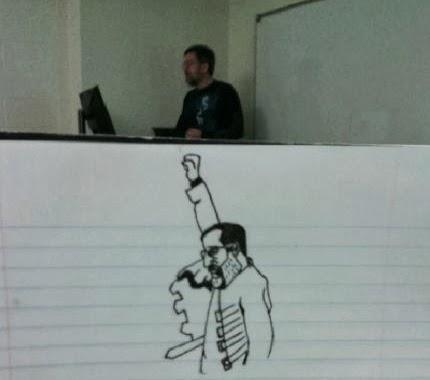 Un Etudiant Dessine Son Professeur Pendant Les Cours Quand Il S Ennuie Dessein De Dessin