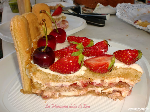 ración tarta charlota