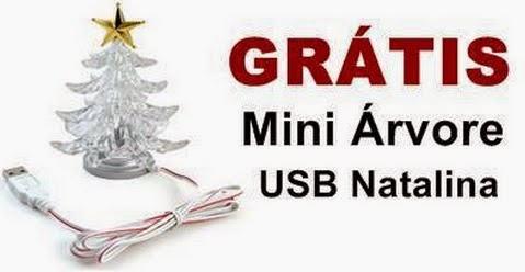 Receba Grátis em sua casa uma linda Árvore de Natal USB