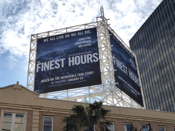 Finest Hours movie billboard