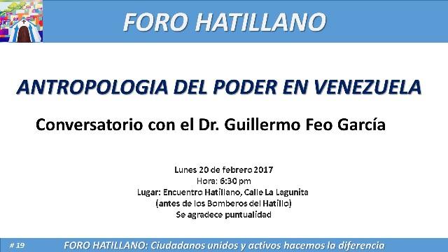 El @ForoHatillano invita: