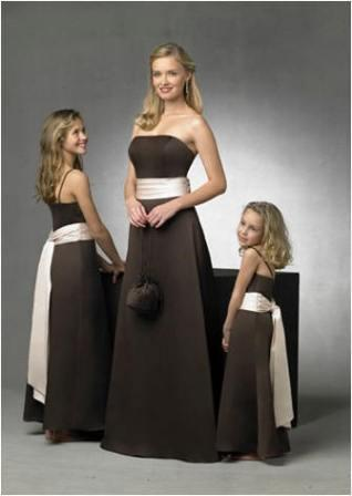 Castle wedding chocolate brown bridesmaid dresses for Brown dresses for wedding
