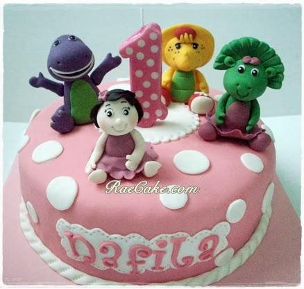Barney Cake for Nafila Kue Ulang Tahun Birthday CakeCupcake