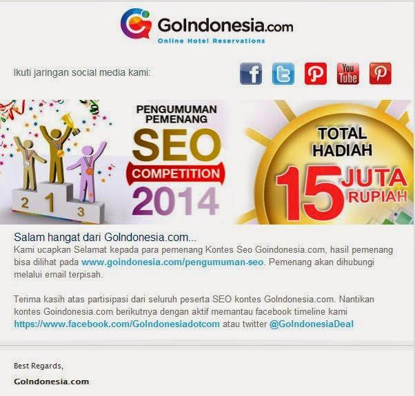 Rasakan Bedanya Juara 5 Kontes SEO Hotel Murah di Jakarta