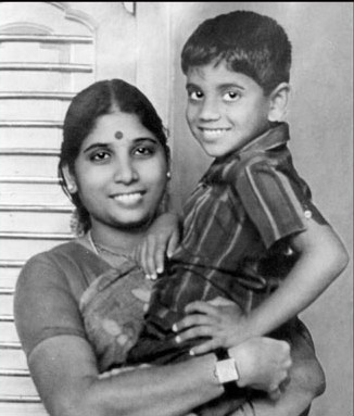 Child Nagarjun with his mother