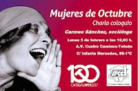 Charla coloquio: Mujeres de Octubre