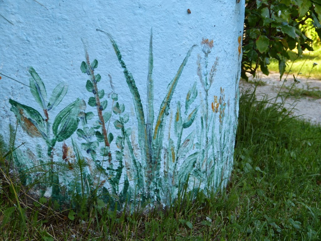sejny, malowana studnia