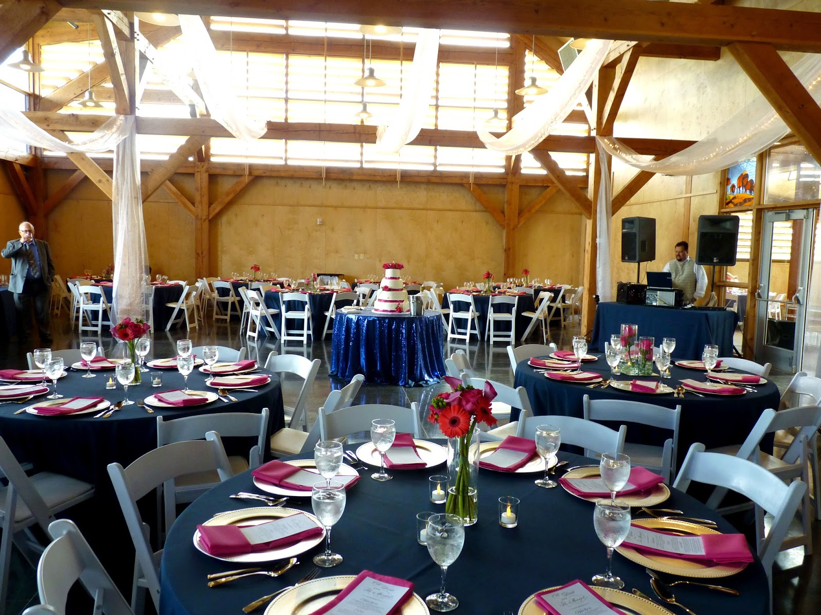 Autumns Colors Were Hot Pink And Navy Blue With Just A Touch Of Subtle Bling The Reception Was Held At Mahaffie Heritage Center We Pulled Out All