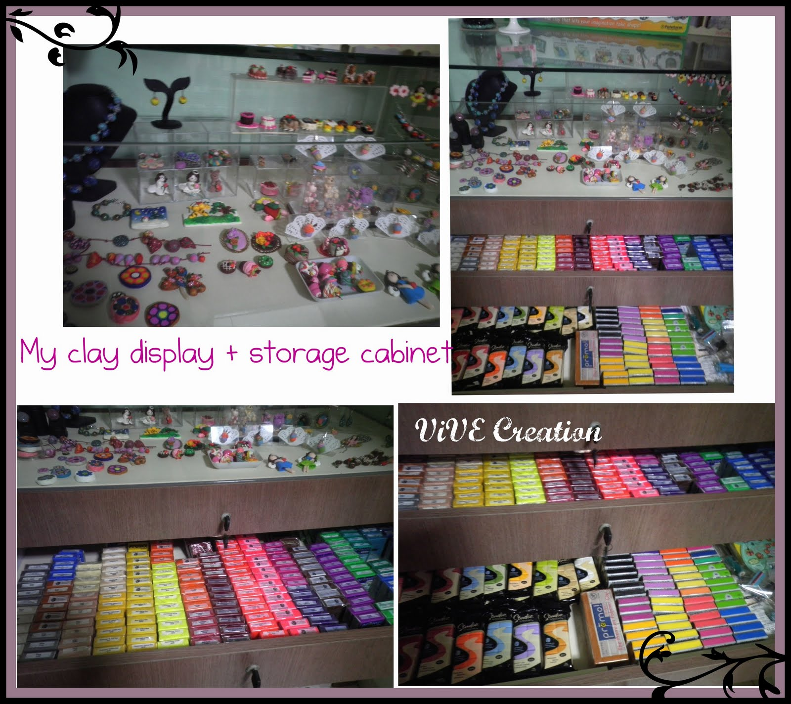Vive Creation Gallery My Polymer Clay Display And Storage Cabinet