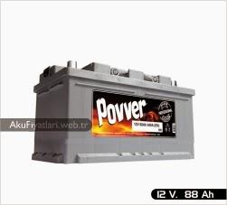 povver akü silver serisi 12 volt 88 amper