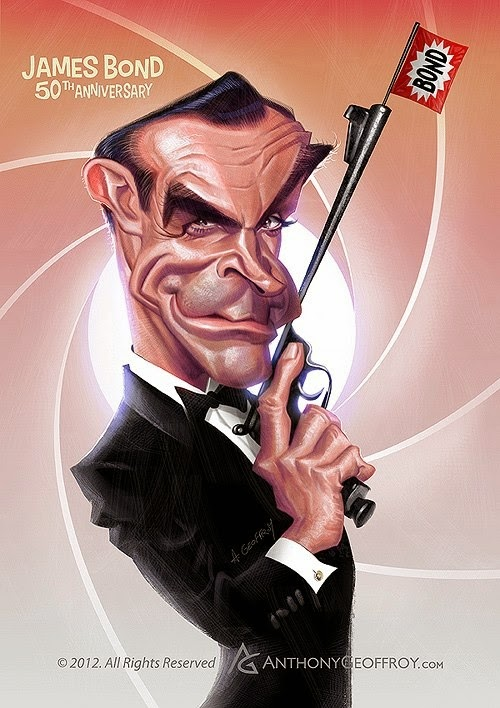 01-Sean-Connery-James-Bond-007-Anthony-Geoffroy-Caricature-Illustrations-Comics-www-designstack-co