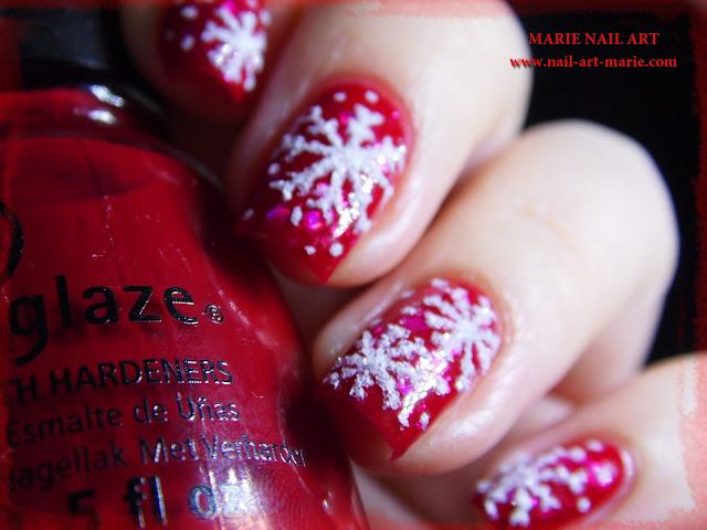 Nail Art de Noël Flocons de Neige3