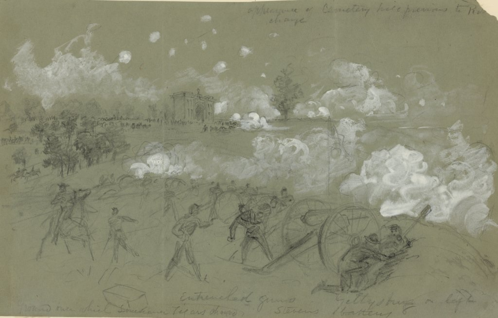 Union artillery on Cemetery Hill