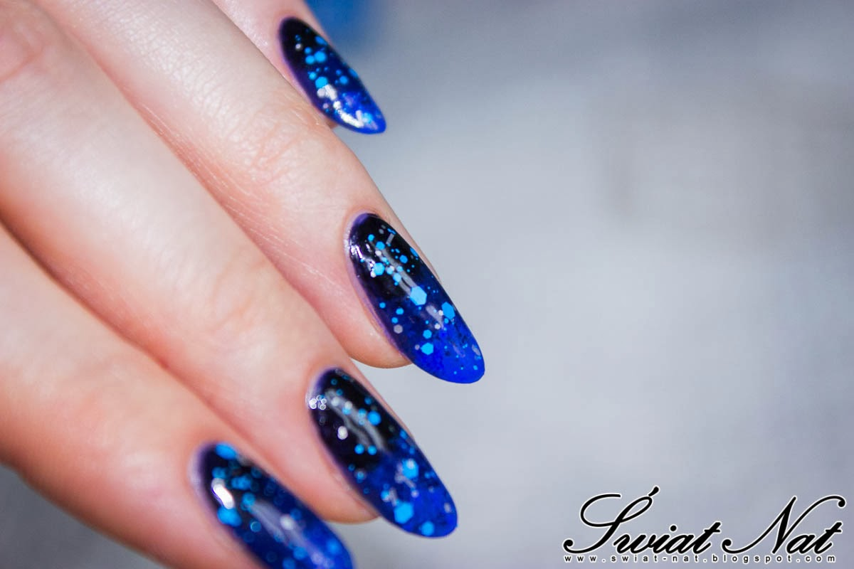 nails nailart carnival glitter ombre
