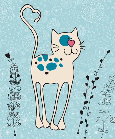 Котик-длинноножка новый