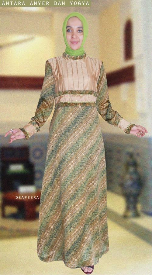 gamis pesta batik original desain by iin dzafeera bahan kain batik