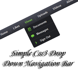 drop down menu for blogger