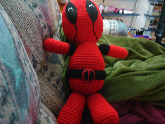 The Geeky Knitter People Have Been Crocheting Deadpool