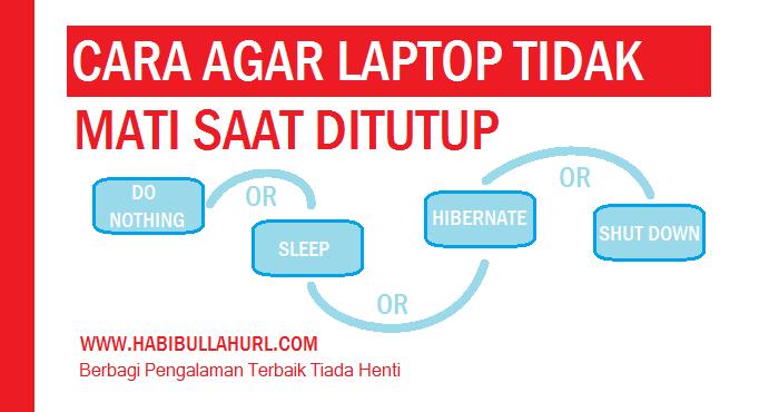 Agar Laptop Tidak Mati saat Ditutup
