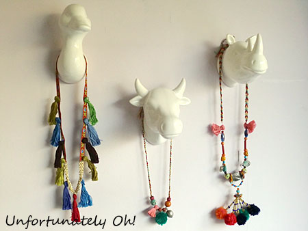 ethnic tassel and pompom necklace tutorials