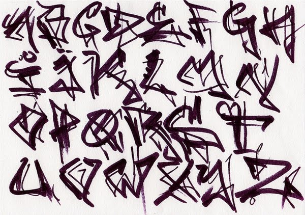 3 Style Of Graffiti Alphabet By Sheik