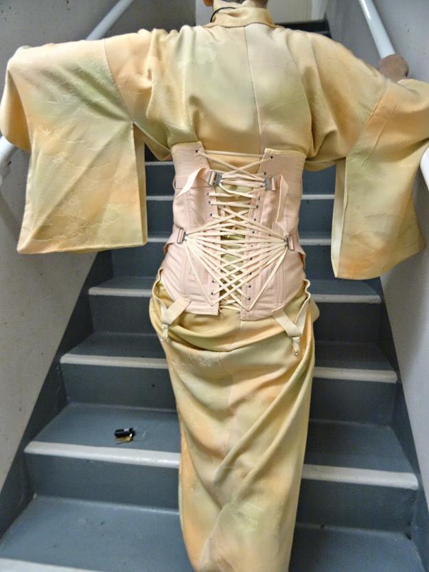 Melanie Kobayashi, Bag and a Beret, hybrid kimono