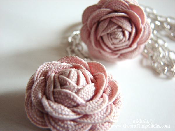 Flower ring necklace