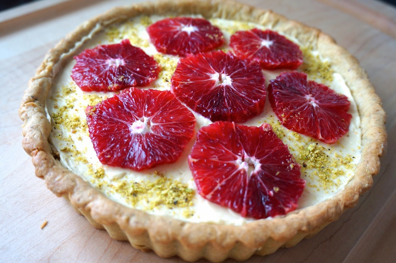 Pistachio Blood Orange Tart
