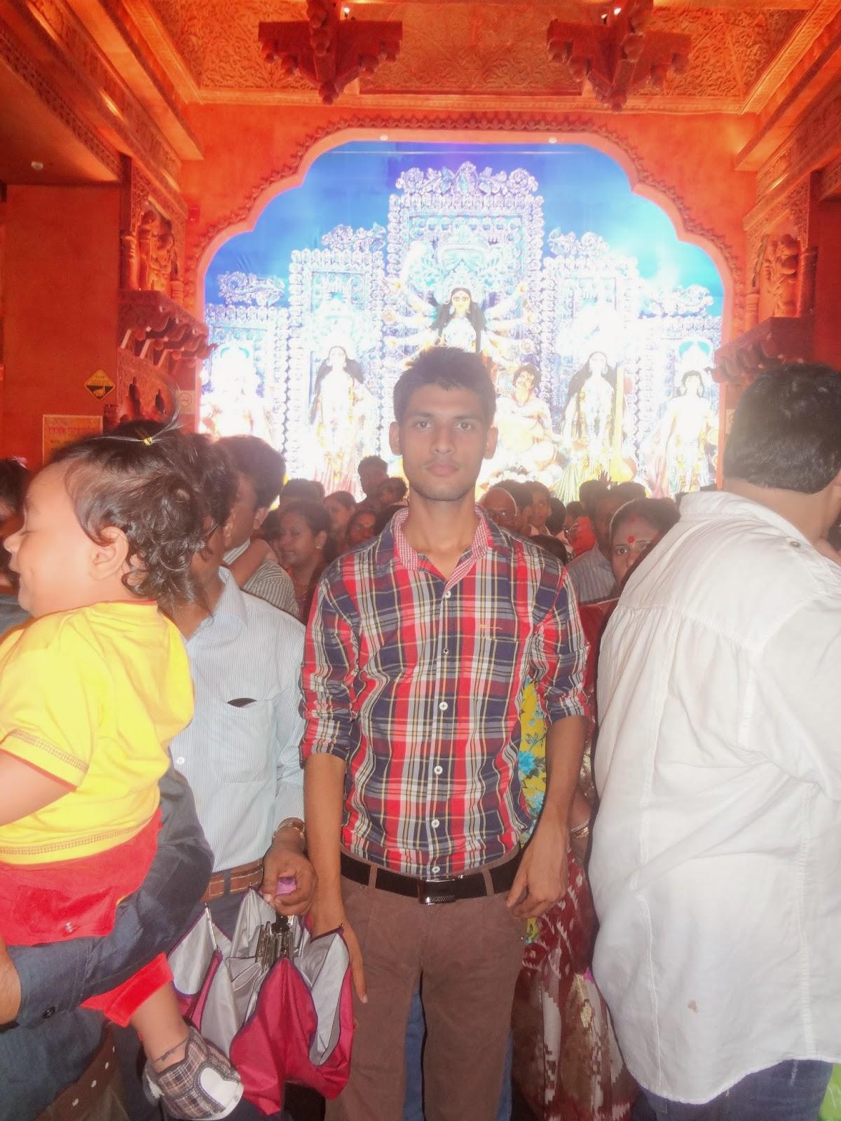 Anshu Dikshant at Durga Puja (Vijaya Dashami), Kolkata