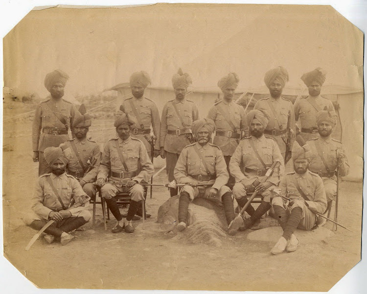 Sikh Military Officers - 1890's