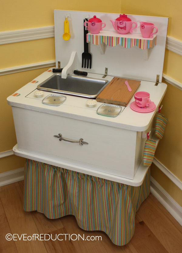 Upcycling Sewing Cabinet Repurposed Into A Child S Play
