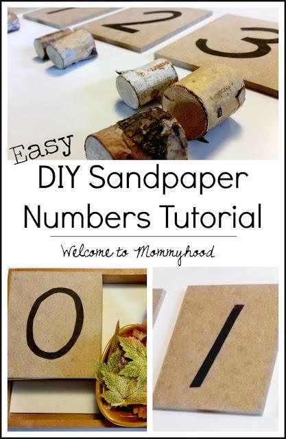 DIY Sandpaper number tutorial by Welcome to Mommyhood #Montessori, #preschoolathome, #preschool
