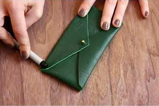Cara Membuat Aksesoris Wanita, Dompet Amplop Kulit 5