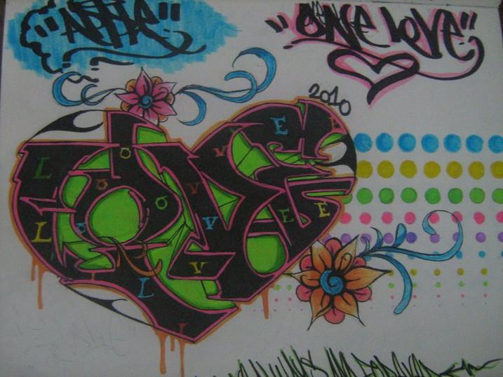 Grafiti New Most Love Graffiti Sketch Valentine