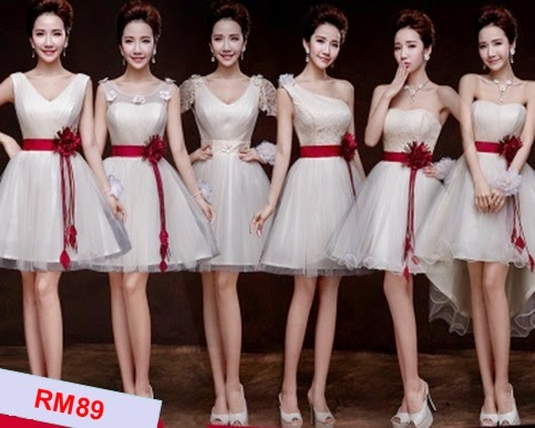 Waist Red Sash Ribbon Bridesmaids Dresses