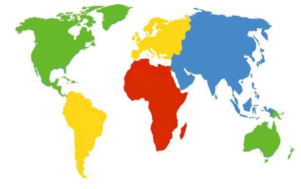 Los Nombres De Los Continentes