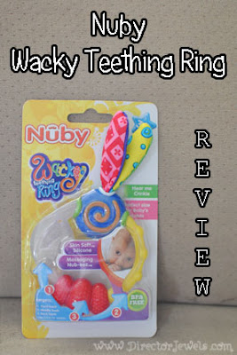 Nuby Wacky Teething Ring Review Mommy Blogger