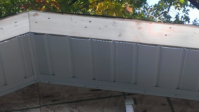 2x6 Fascia that will get covered up with aluminum and soffit below.