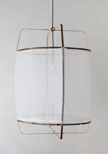 let lampe i bomuld der giver en enkel følelse i stuen