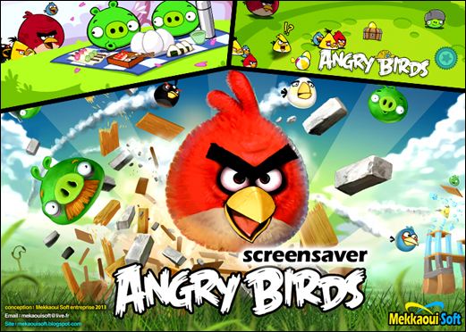 شاشة توقف متحركة Angry Birds Screensaver  Interface1