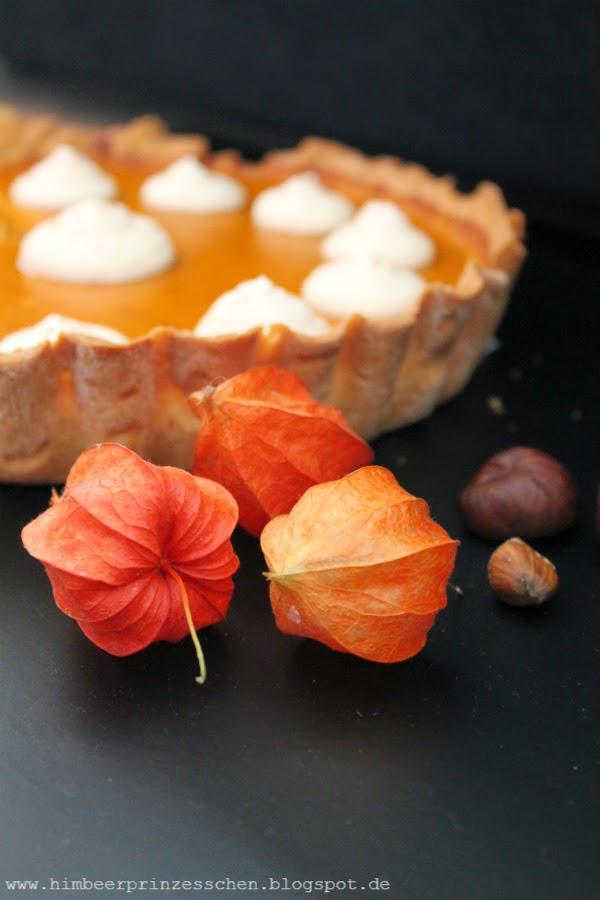 Pumpkin Pie Himbeerprinzesschen Kürbis Kuchen Foodblog Kastanien Lampionblüten
