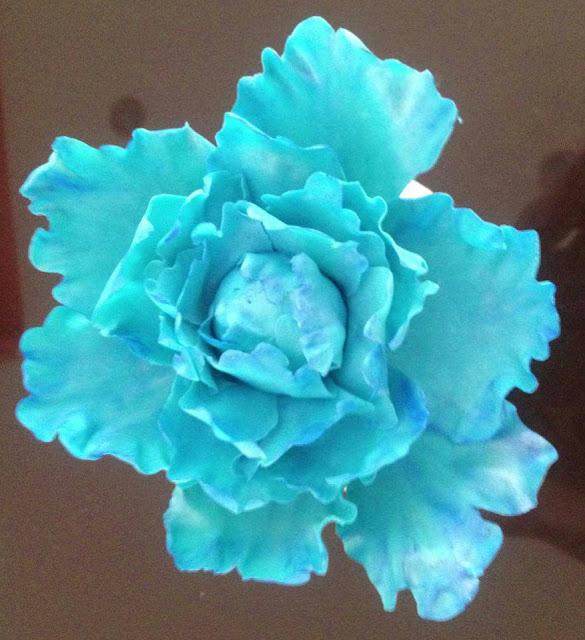 Flores de azucar peonia cerrada pasta de goma boda elegante  sugar dreams gandia tarta fondant
