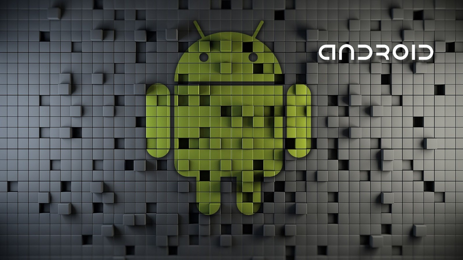 3D Android Crystals Wallpaper Widescreen in HD