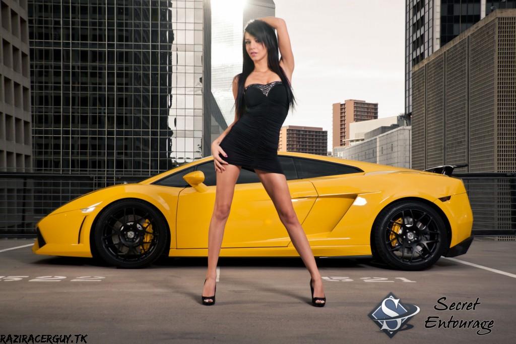 Cars and Girls: Yellow Tuned Lamborghini Gallardo and ...