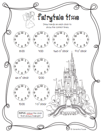 Fun With Firsties: WATCH Me Tell Time!