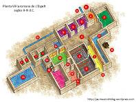 Planta de la vil·la dels segles II-III d.C. Adaptació d'un dibuix de Jaume Enrich