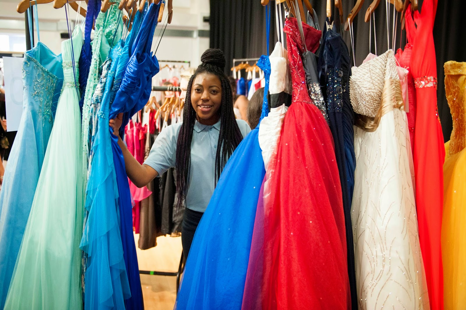 frumpy to funky: David\'s Bridal Donates 150 Prom Dresses to ...
