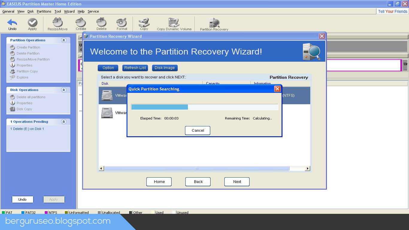 Aplikasi Laptop Easeus Partition Master
