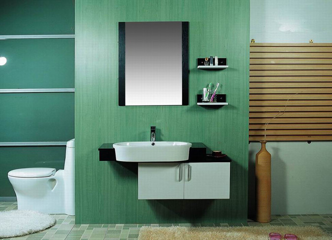 Modern bathroom furniture for Fresque murale carrelage salle de bain